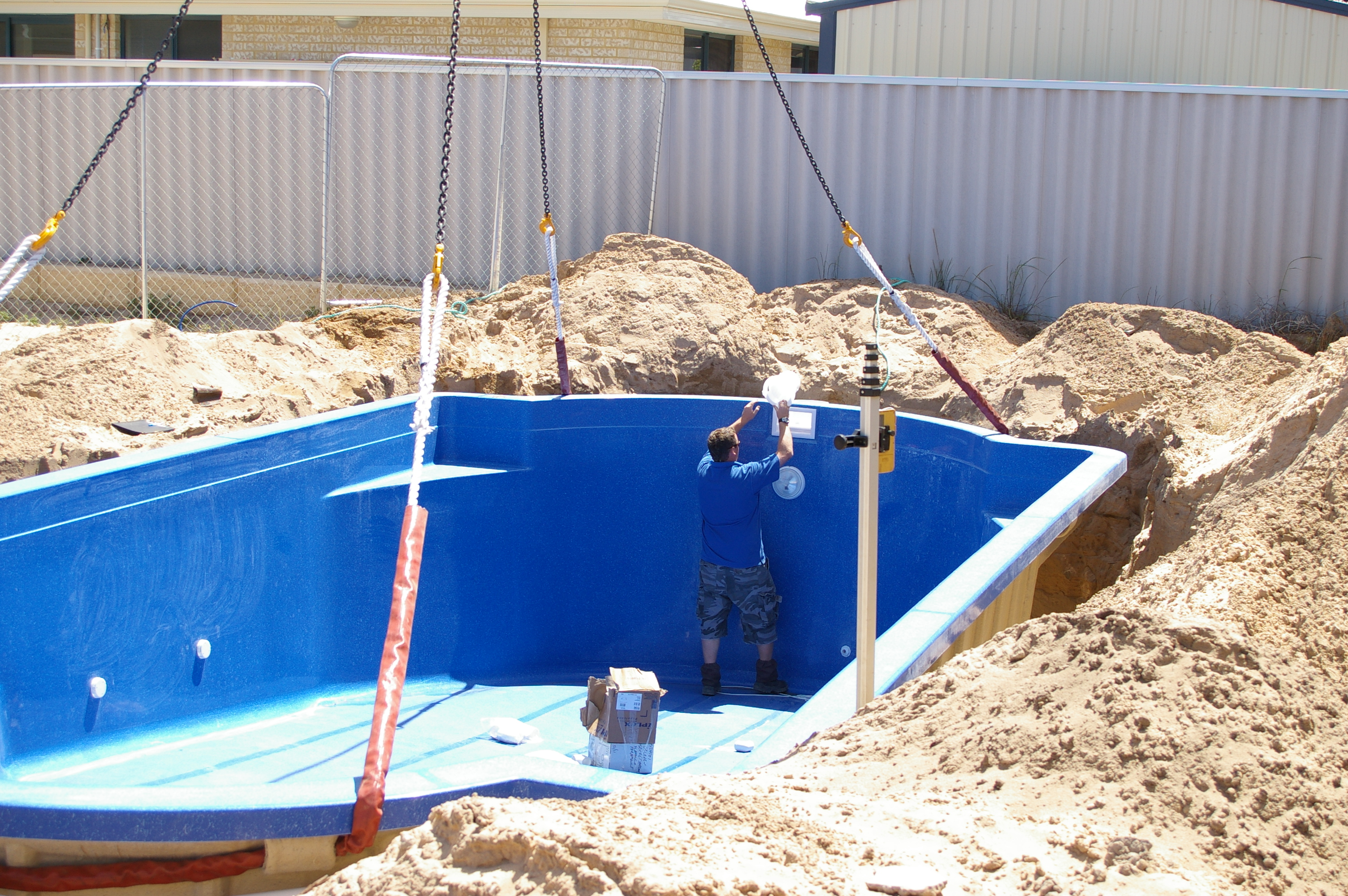 Building a new swimming pool in brisbane british expats for Building a swimming pool