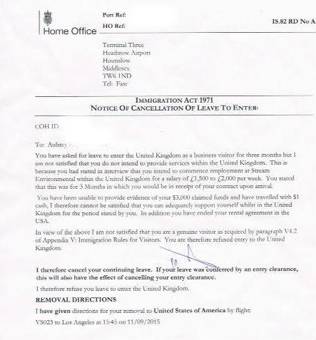 uk visa refusal letters