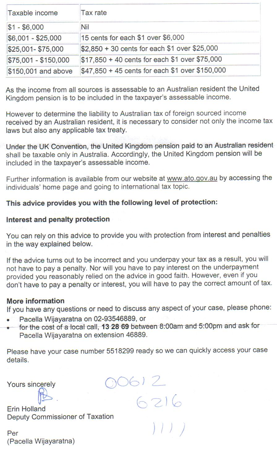 Oz tax office letter ref uk pensions british expats oz tax office letter ref uk pensions australian tax office letter publicscrutiny Images