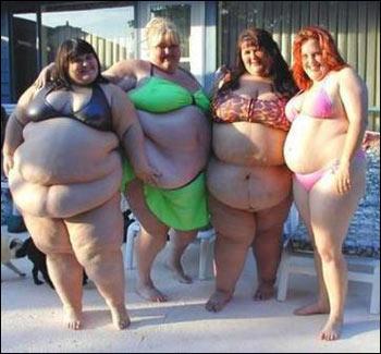 Fat Lady At Beach