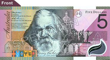 Australian 5note Front New Jpg