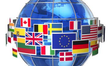 Globe/Flags