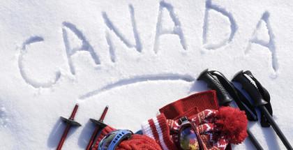 Canada ski background